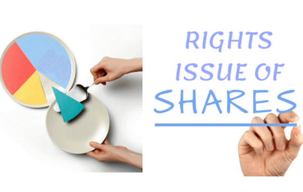 Rights Issue of Shares – Saurabh Investments